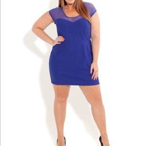 NWT City Chic Roxanne Embellished Mini Dress